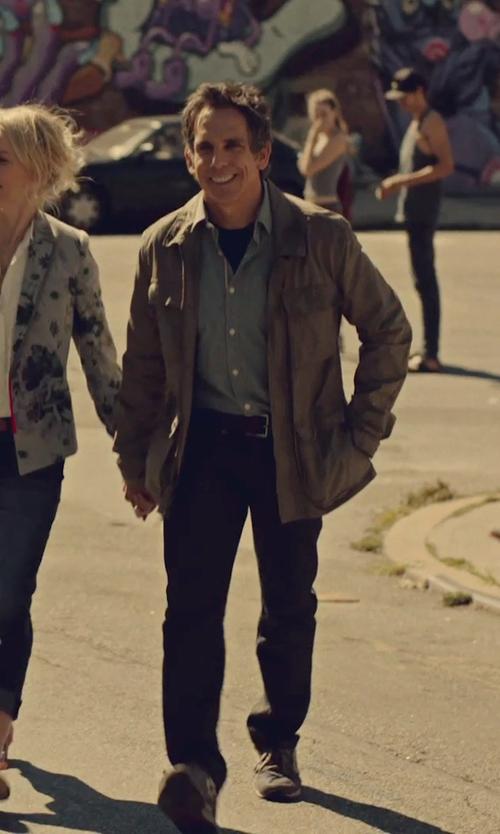 Ben Stiller with Ermenegildo Zegna Leather Dress Belt in While We're Young