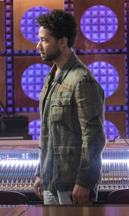 Jussie Smollett with Joe's Jeans Army Jacket in Empire