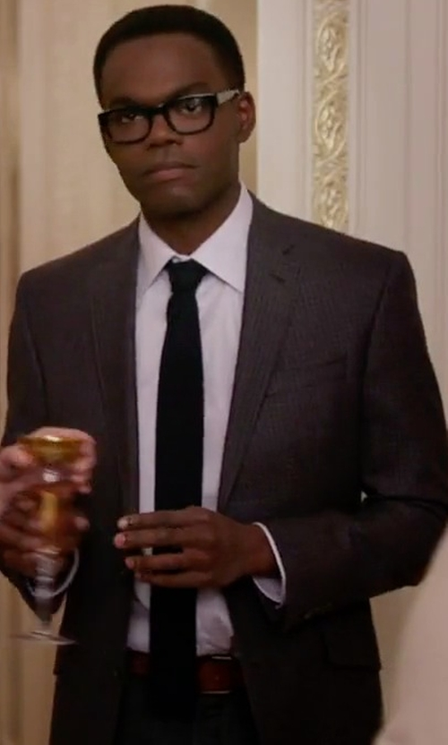 William Jackson Harper with Boss Hugo Boss Micro-Textured Two-Piece Suit in The Good Place