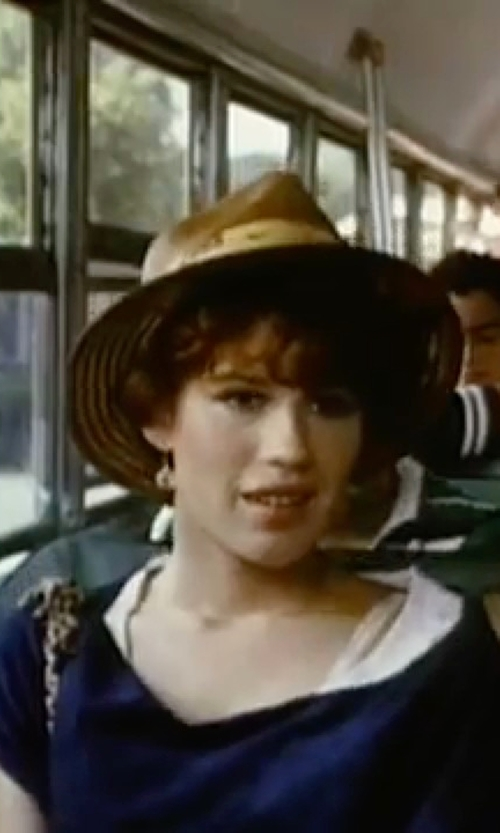 Molly Ringwald with Eileen Fisher Organic Cotton Scoop Neck Tee in Sixteen Candles