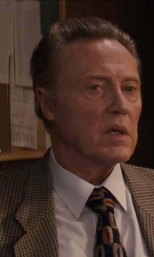 Christopher Walken with Boglioli Tweed Blazer in Eddie The Eagle