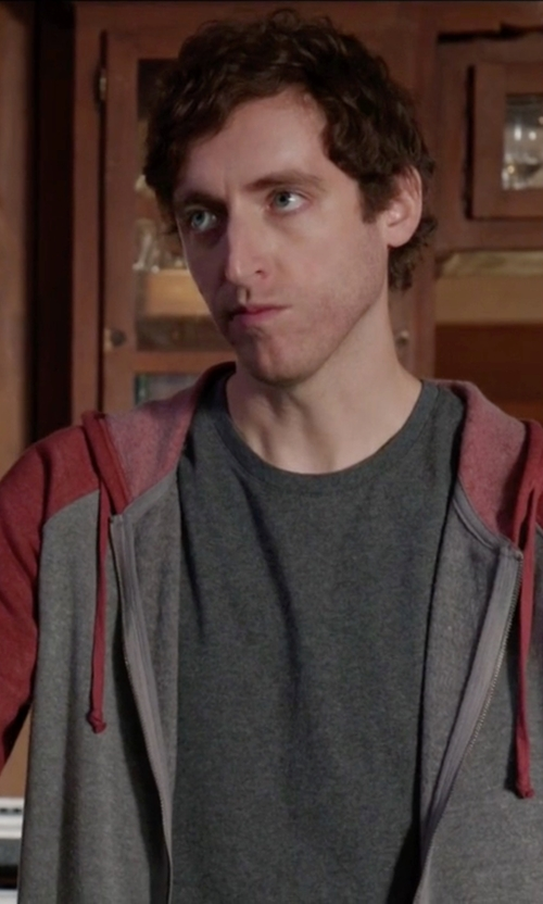 Thomas Middleditch with Threads 4 Thought Malibu Zip Front Hoodie in Silicon Valley