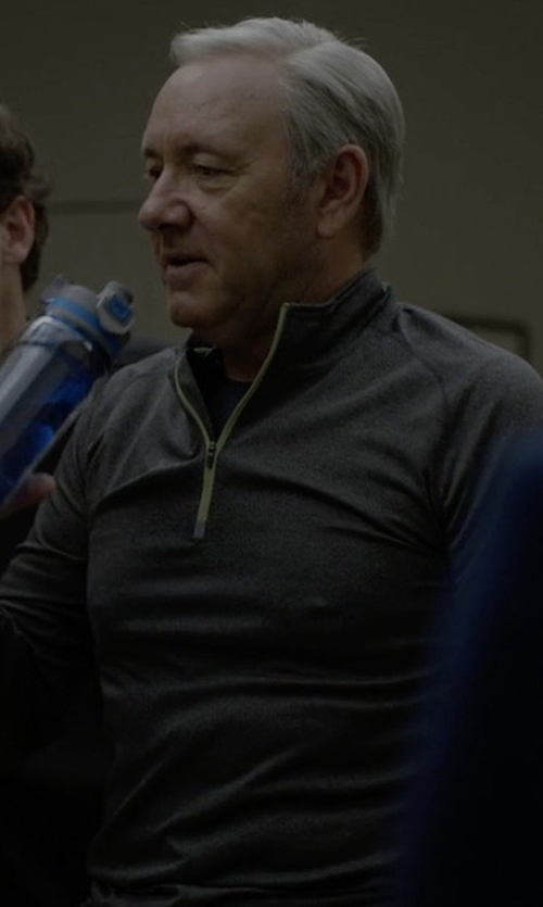 Kevin Spacey with New Balance J.Crew N Transit Quarter Zip Shirt in House of Cards