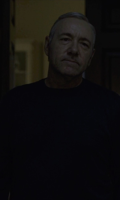 Kevin Spacey with Rag & Bone Nathan Crewneck Sweater in House of Cards