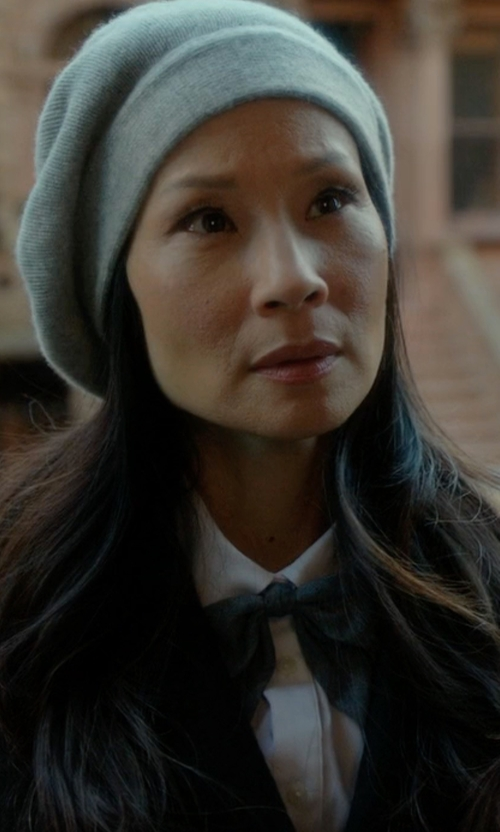 Lucy Liu with Victoria Victoria Beckham  Classic Shirt in Elementary