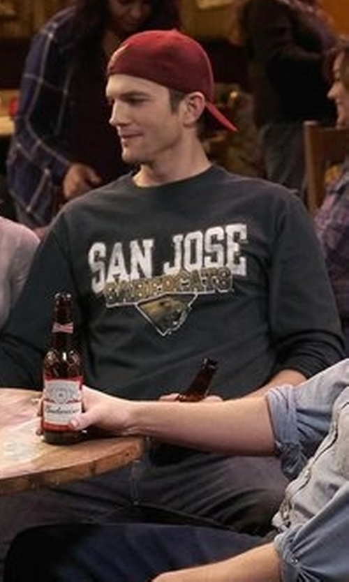 Ashton Kutcher with Worn By Long Sleeve T-Shirt in The Ranch