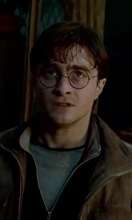 Daniel Radcliffe with Savile Row Warwick Eyeglasses - Rhodium / Matte Black Rim in Harry Potter and the Deathly Hallows: Part 2
