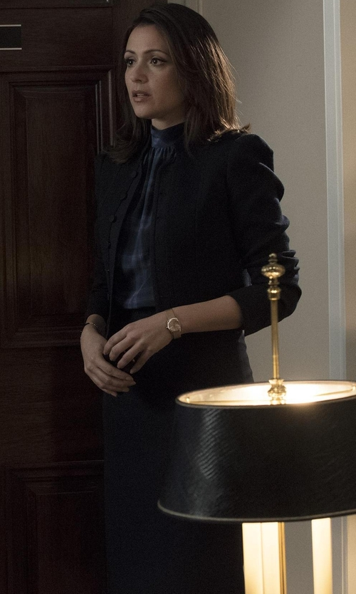 Italia Ricci with Eileen Fisher Washable Silk/Cotton Midi Pencil Skirt in Designated Survivor