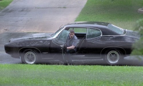 Ethan Hawke with Pontiac 1968 GTO Coupe Car in Boyhood