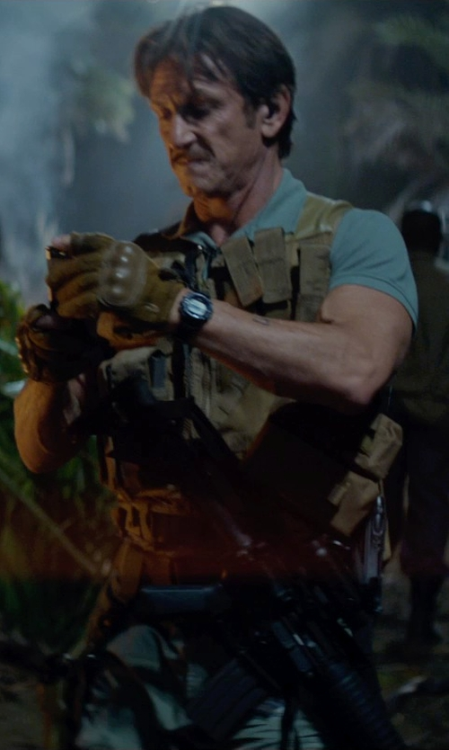 Sean Penn with Voodoo Tactical Phantom Gloves with Knuckle Protector in The Gunman