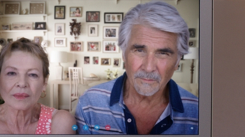 James Brolin with Billy Reid Pensacola Striped Jersey Polo Shirt in Sisters