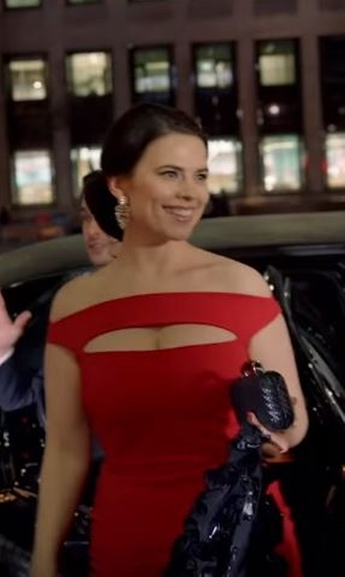 Hayley Atwell with Chiara Boni La Petite Robe 'Melania' Jersey Dress in Conviction