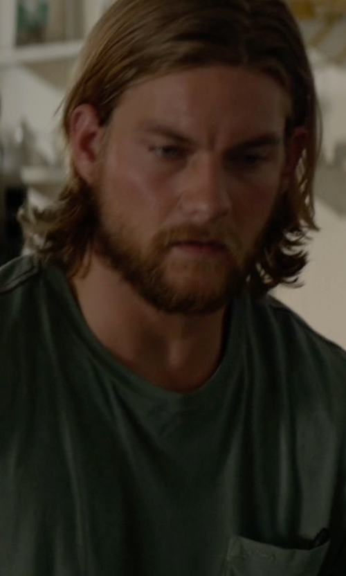 Jake Weary with Volcom Men's Quartz Pocket T-Shirt in Animal Kingdom