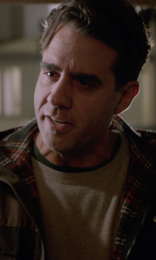 Bobby Cannavale with T By Alexander Wang Classic Pima Cotton Low Neck T-Shirt in Adult Beginners