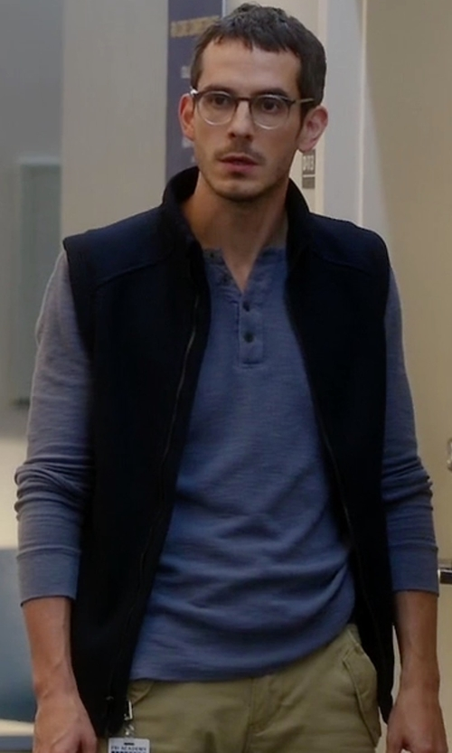 Tate Ellington with Patagonia Better Sweater Vest in Quantico