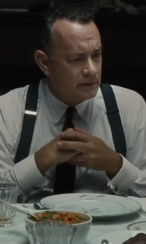 Tom Hanks with Tiffany & Co. Lucida Wedding Band in Bridge of Spies
