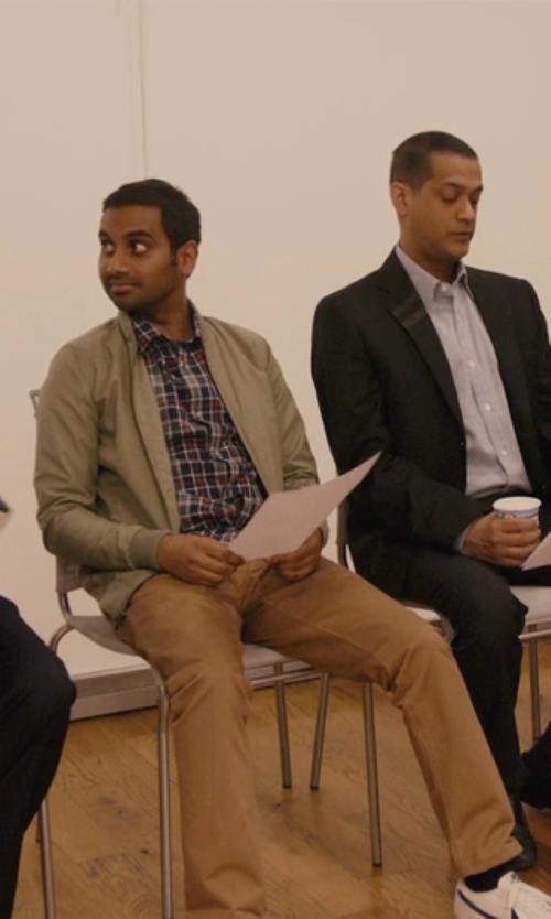 Aziz Ansari with Unis 'Gio' Vintage Khaki Pants in Master of None