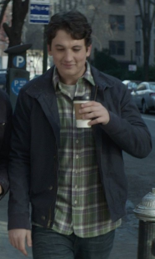 Miles Teller with Relwen CPO Cotton Jacket in That Awkward Moment