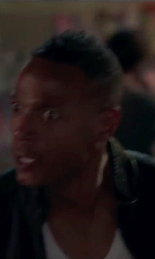 Marlon Wayans with Calvin Klein Faux Leather Moto Jacket in Fifty Shades of Black