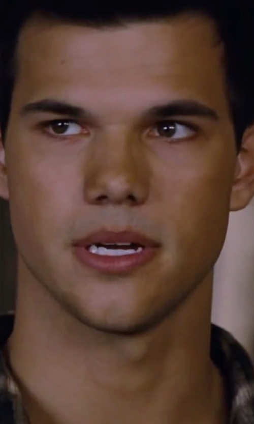 Taylor Lautner with Banana Republic Tailored Check Oxford Shirt in The Twilight Saga: Breaking Dawn - Part 2