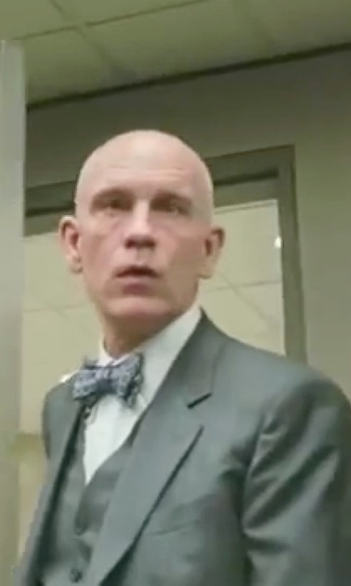 John Malkovich with Boss 'Hattrick/Final WE' Trim Fit Three Piece Wool Suit in Burn After Reading