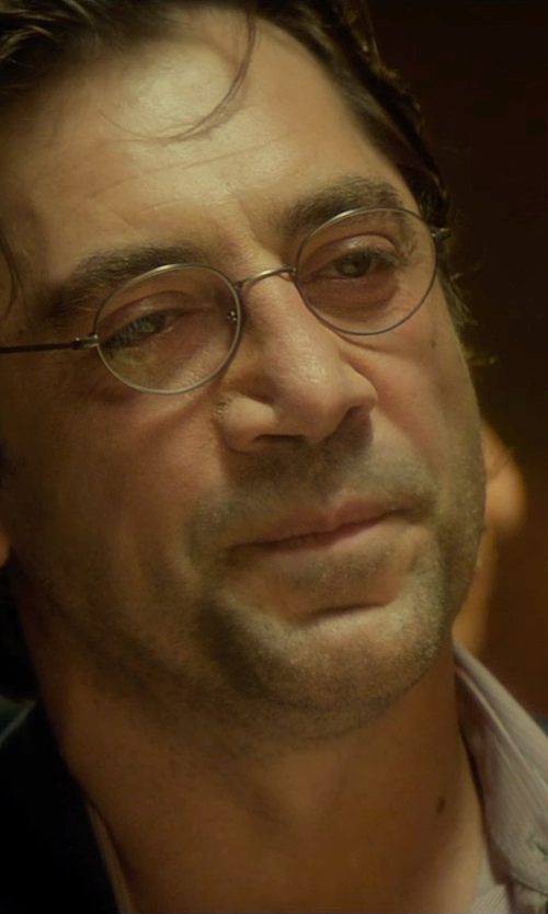 Javier Bardem with Michael Kors Collection Cranberry Fineline Stripe Dress Shirt in The Gunman