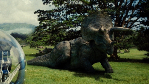 No Actor with InGen Triceratops in Jurassic World