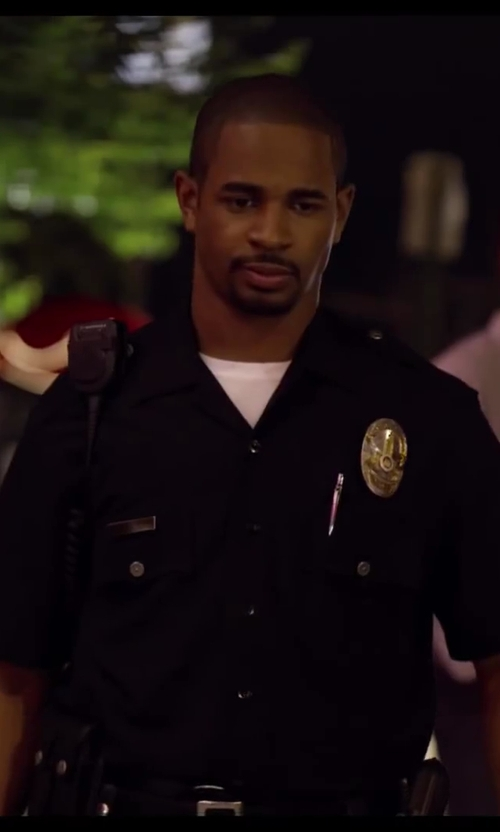 Damon Wayans Jr. with Crooks & Castles Knit Panelled Crew T-Shirt Bandit in Let's Be Cops