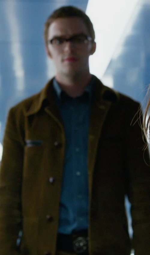 Nicholas Hoult with Steven Alan Collegiate Chambray Sport Shirt in X-Men: Days of Future Past