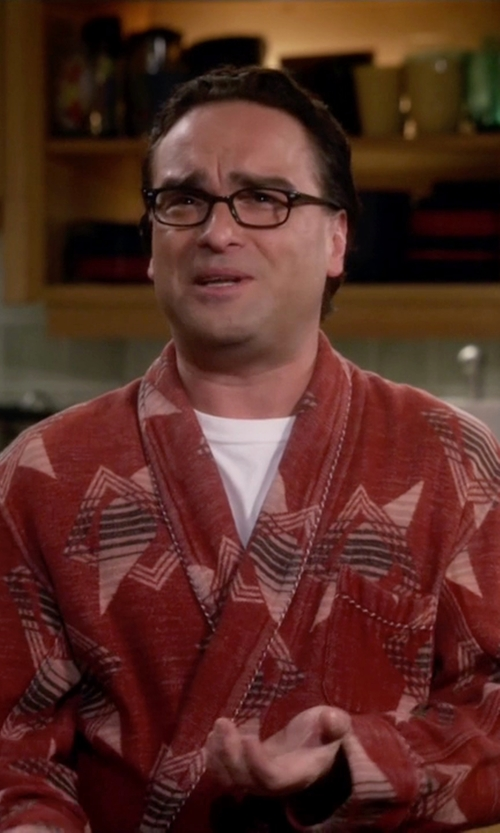 Johnny Galecki with Vintage Beacon Blanket Robe in The Big Bang Theory