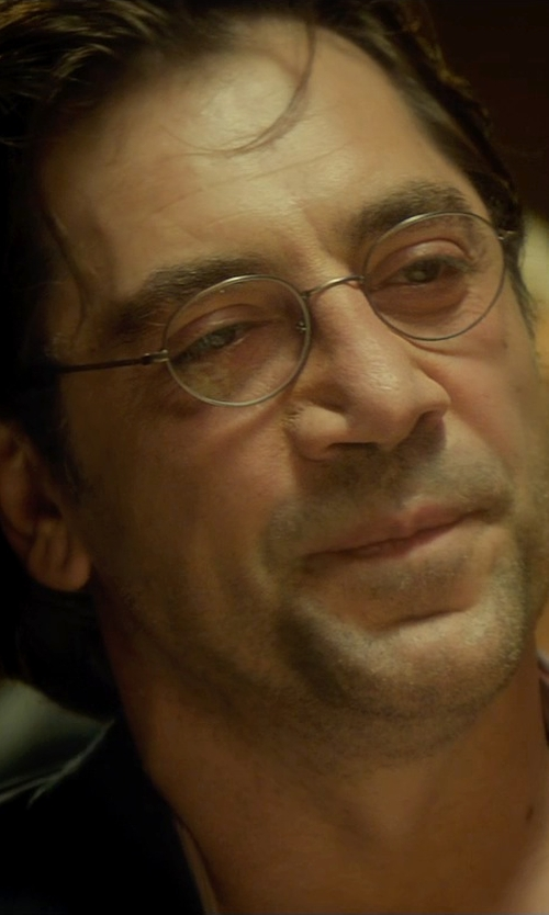 Javier Bardem with Giorgio Armani Matte Chrome Optical Eye Glasses in The Gunman