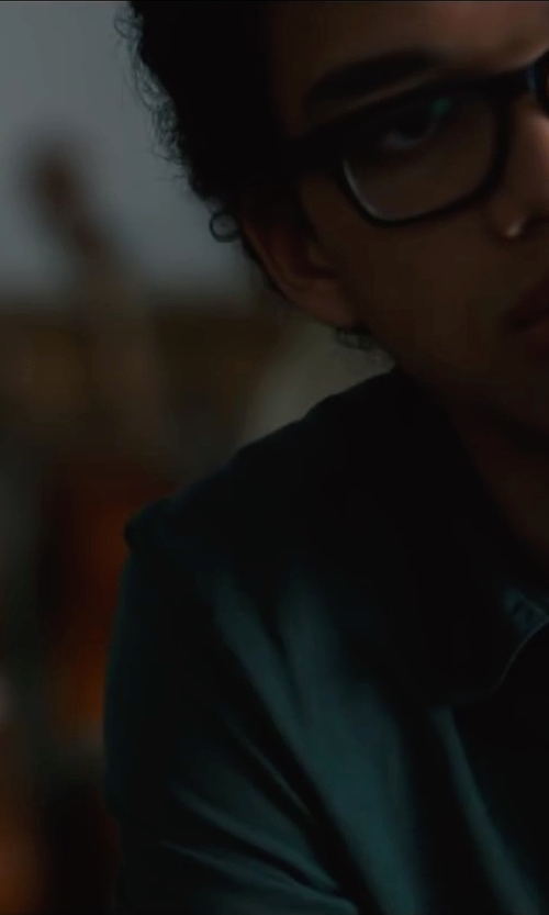 Justice Smith with Ultraclub Mens L/S Denm Shirt in Paper Towns