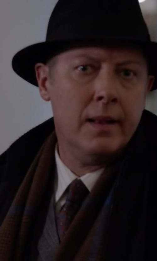 James Spader with Brooks Brothers Herringbone Medallion Tie in The Blacklist