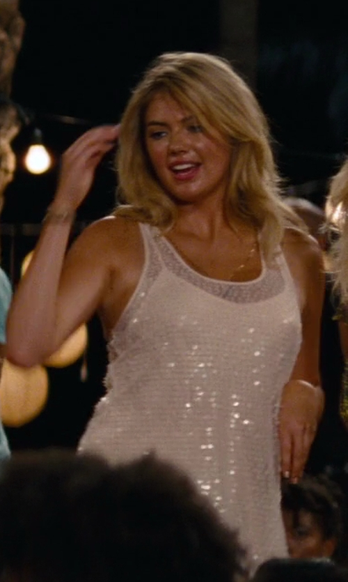Kate Upton with Free People Racerback Sequin Slip Dress in The Other Woman