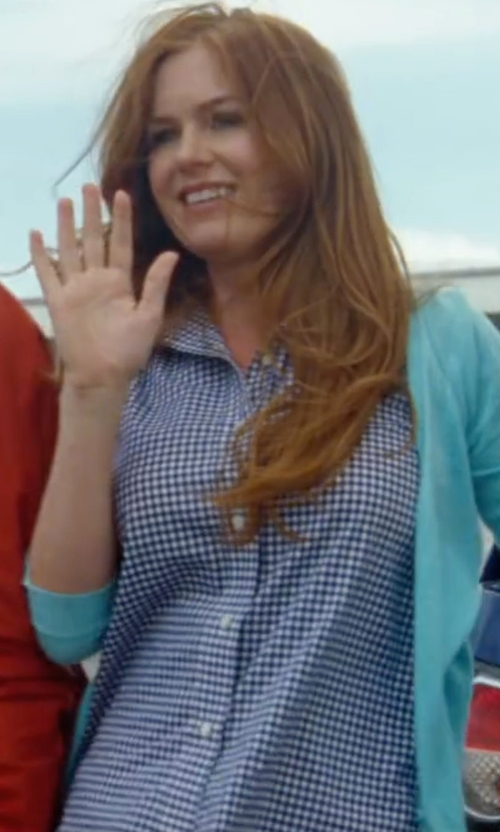 Isla Fisher with Tom Ford Optical Check Dress Shirt in Keeping Up with the Joneses