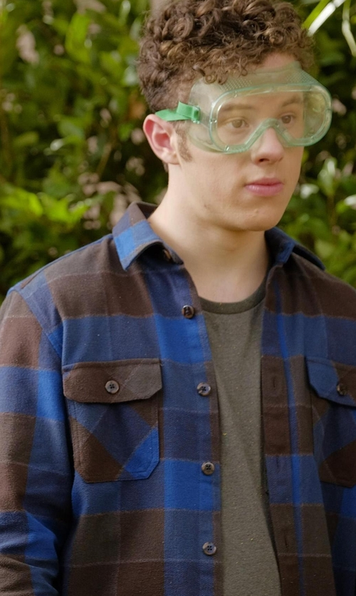 Nolan Gould with Filson Vintage Flannel Work Shirt in Modern Family