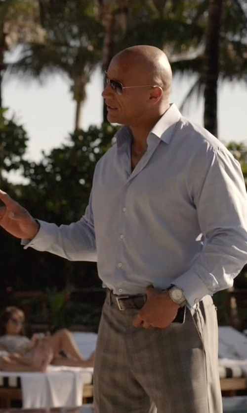 Dwayne Johnson with Raymond Weil Automatic Stainless Steel Silver Dial Watch in Ballers