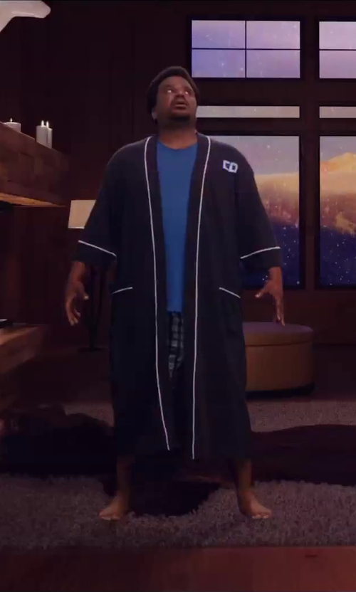 Craig Robinson with Topman Blue Crew Neck T-shirt in Hot Tub Time Machine 2