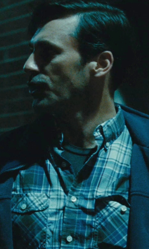 "Jon Hamm with Hydrogen ""Avvocato"" Cotton Flannel Western Shirt in The Town"