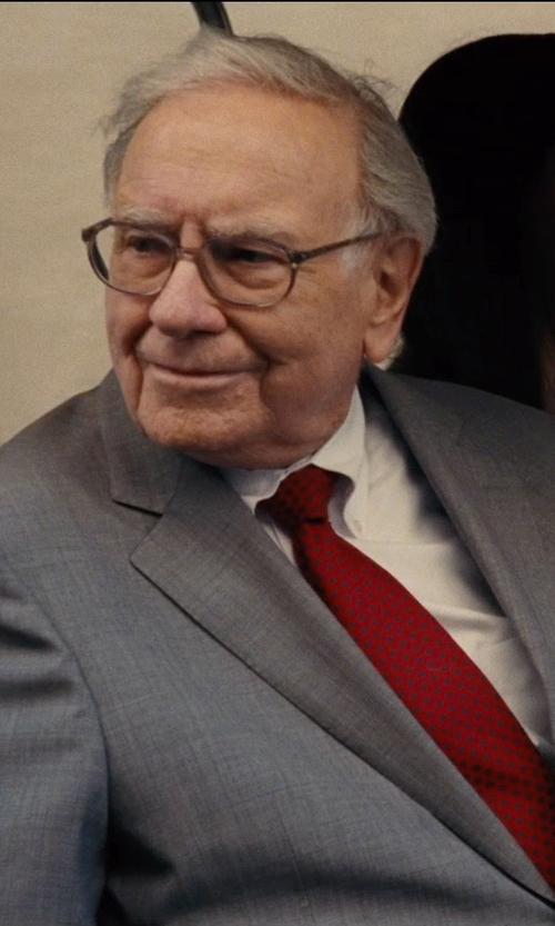 Warren Buffett with Boss Hugo Boss Classic Fit Wool & Silk Suit in Entourage