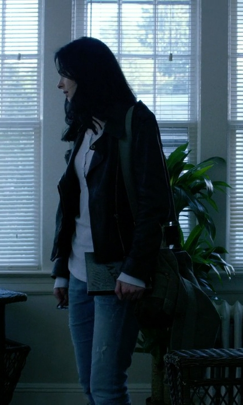 Krysten Ritter with Rothco Large  B15 Pilot Messenger Bag Sling Flap - Olive Drab in Jessica Jones