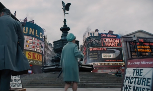 Unknown Actor with Piccadilly Circus London, England in Legend