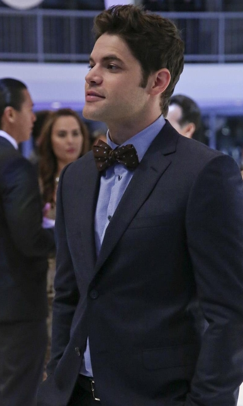 Jeremy Jordan with Brooks Brothers Milano Extra Slim-Fit Non-Iron Pinpoint Solid Dress Shirt in Supergirl
