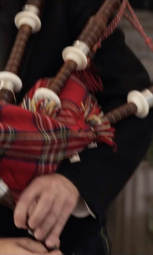 Will Forte with Roosebeck Half Size Sheesham Bagpipes in Popstar: Never Stop Never Stopping