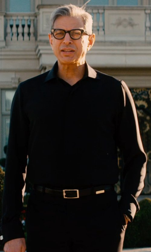 Jeff Goldblum with Versace Tuxedo Trousers in Mortdecai