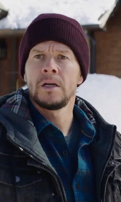 Mark Wahlberg with The Good Man Brand Shadow Plaid Sport Shirt in Daddy's Home 2
