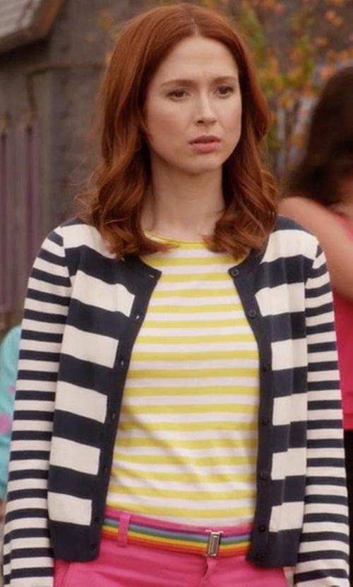 Ellie Kemper with Mih Jeans Striped T-Shirt in Unbreakable Kimmy Schmidt