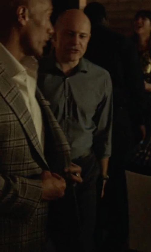 Rob Corddry with Emporio Armani Classic Formal Trousers in Ballers