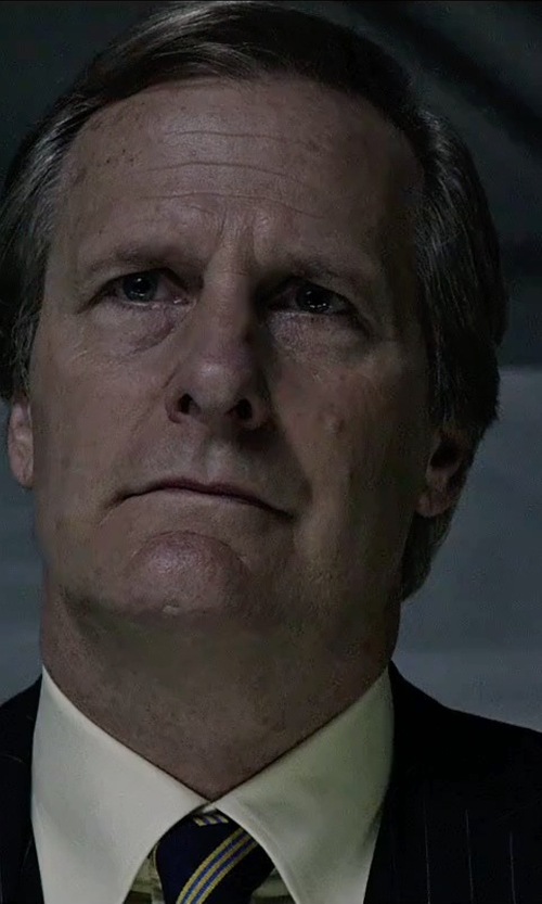 Jeff Daniels with Canali Striped Silk Tie in The Martian