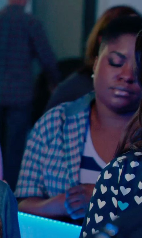 Ester Dean with T by Alexander Wang Striped Rayon-Linen Tank Top in Pitch Perfect 2